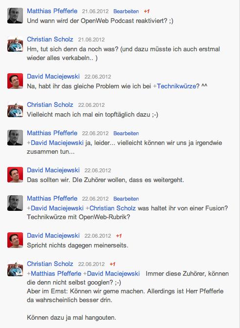 Google+ Konversation